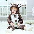 2016 Outono Inverno Hoodies Marca Bebê Macacão de Bebê Recém-nascido Jumpsuit Romper Do Bebê Da Menina do Menino Crianças Roupas Macacão Snowsuit Quente