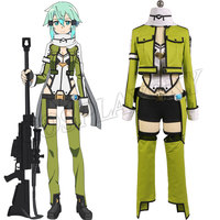 Sword Art Online GGO Sinon Cosplay Costume Women Suit School Uniform Sexy Dress Cosplay Costume Made Full Set Party Dress A7RY