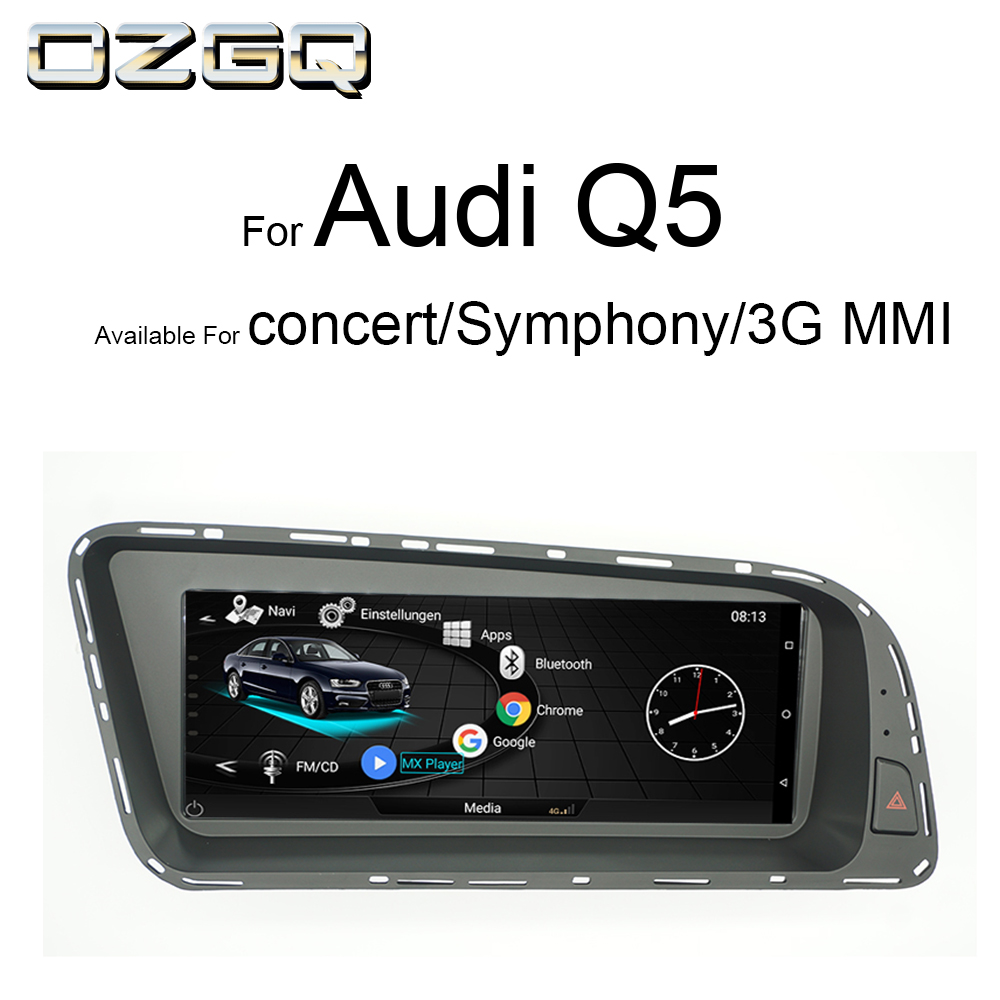 OZGQ Android System 3G MMI Car Multimedia Player Autoradio For Audi Q5 2010-2016 With Control Bluetooth WIFi Map Function