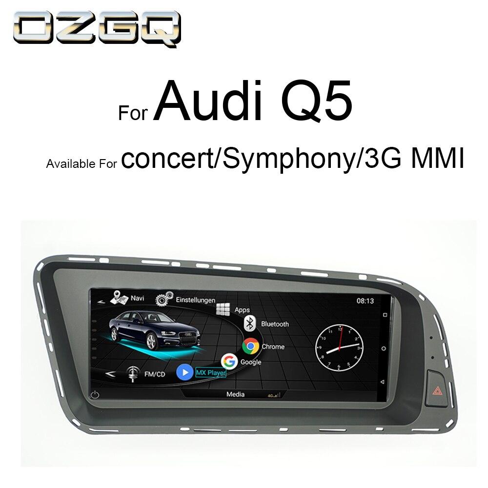 OZGQ Sistema Android Reprodutor multimídia Carro Autoradio Para Audi MMI Q5 3g 2010-2016 Com Bluetooth Controle MMI WIFi Função Mapa