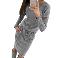Women Sweaters Dress Autumn Winter Knit Dresses Long Sleeve Warm Bodycon Midi Dress Knitted Dresses Vestido