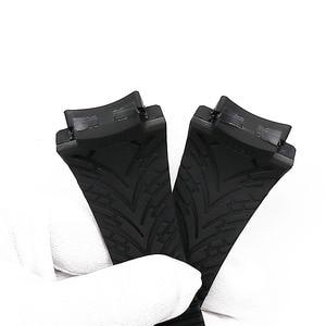 Image 5 - Men watch band watch accessories rubber strap women for porsche design 6620 sports waterproof watch belt