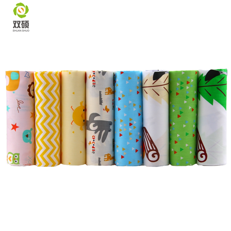New cotton fabric patchwork cartoon tissue cloth of for Children s material sewing