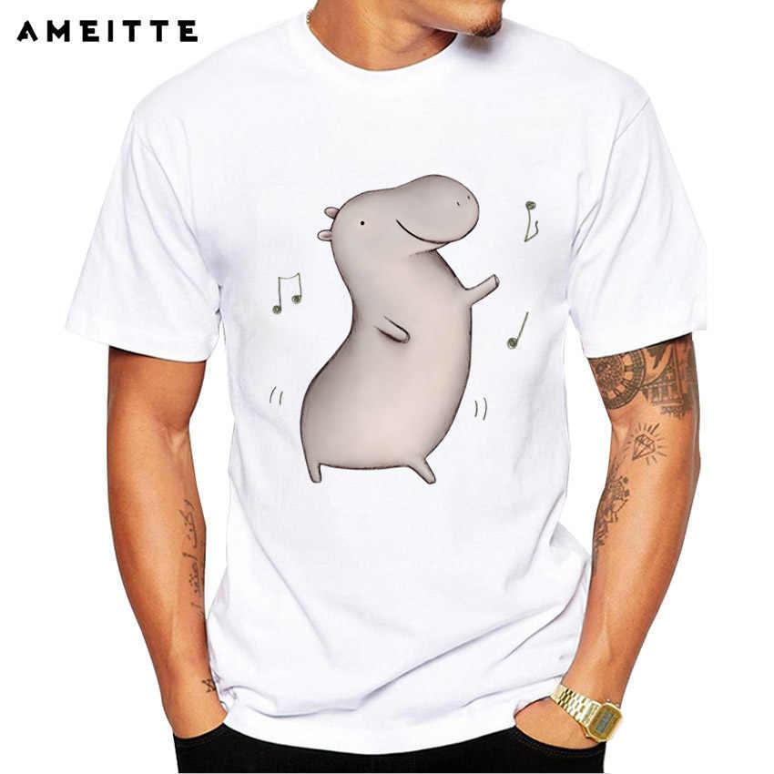 2018 AMEITTE забавная футболка для танцовщицы бегемота Мужская футболка с принтом в стиле хип-хоп высокое качество Стиль Уличная футболка