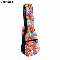 21 23 24 26 Inch Ukulele Backpack Small Portable Guitar Shoulder Gig Bag Folk Style Ukelele