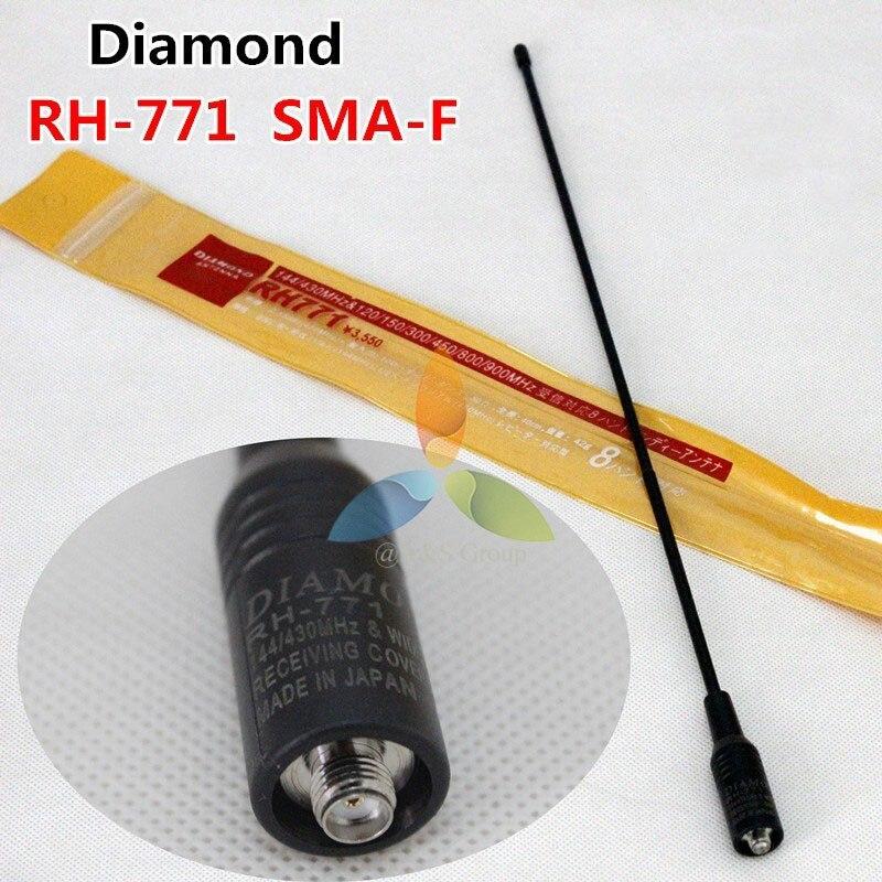 Diamant RH-771 Solidité Laser Impression SMA-Femelle/Mâle/BNC Antenne Double Bande 144/430 MHz Pour Two Way Radio Baofeng TYT Wouxun etc.