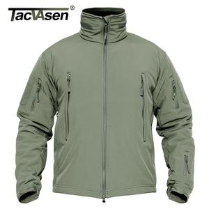 Image 2 - TACVASEN Winter Military Fleece Jacke Herren Soft shell Jacke Taktische Wasserdichte Armee Jacken Mantel Airsoft Kleidung Windjacke