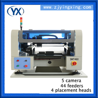 4 Heads SMT460 SMD Components Automatic PCB Machine 0402,0603,BGA With 44 Feeders SMT Desktop PNP Machine