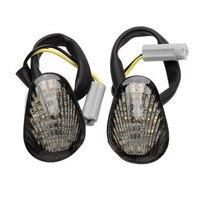 دراجة نارية واضح LED فلوش جبل LED بدوره إشارة مؤشرات ضوئية لياماها YZF R1 2002 2008 YZF R6 2003 2008 YZF R6S 2006 2008 على
