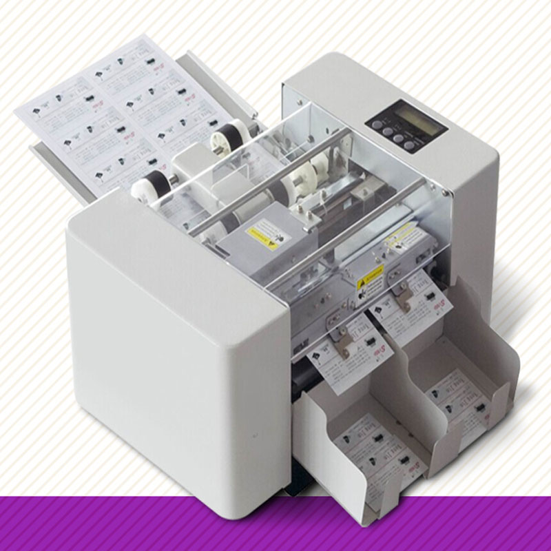 A4 Size Automatic Business Card Cutting Machine 80w Paper Cutter Electric Ting