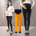 Autumn and winter pregnant women pants fried snow plus cashmere trousers pregnant women pants belly pants pregnant women legging