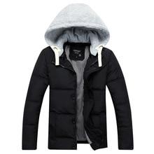 2016 New Winter font b Men s b font Jackets Fashion Hooded Down Cotton Coat Warm