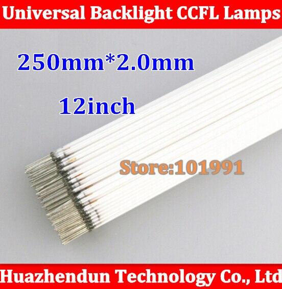 20pcs Free shipping New 250 MM length LCD CCFL lamp backlight tube,250MM* 2.0mm, 250MM length CCFL light