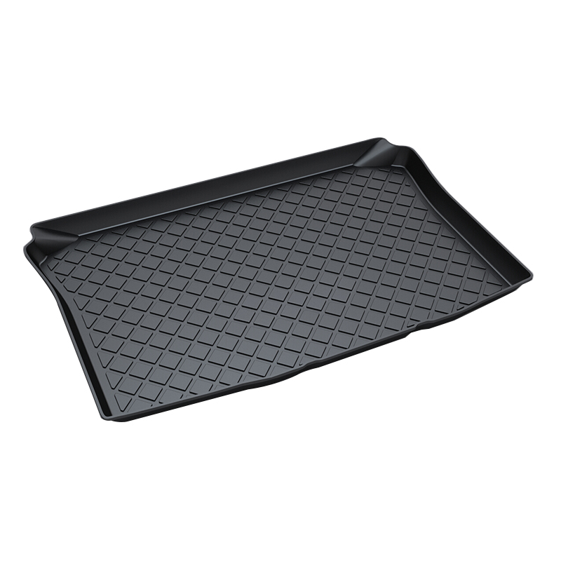 Premium Waterproof Anti-Slip Car & Trunk Tray Mat Protector Cover in Heavy Duty for Volkswagen VW Polo 2006-2017, Black trunk tray mat for toyota corolla premium waterproof anti slip car in heavy duty black