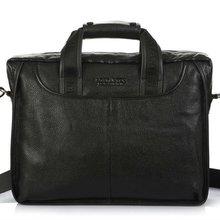 Модный мужской портфель из натуральной кожи с натуральным лицевым покрытием, деловая сумка, кожаная сумка для ноутбука, сумка на плечо, сумка через плечо, черный, коричневый