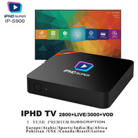 IPHD S900 IPTV BOX 2800+Live Channels/3000+VOD One Year Free Service Included Arabic IPTV Brazil IPTV Europe IPTV