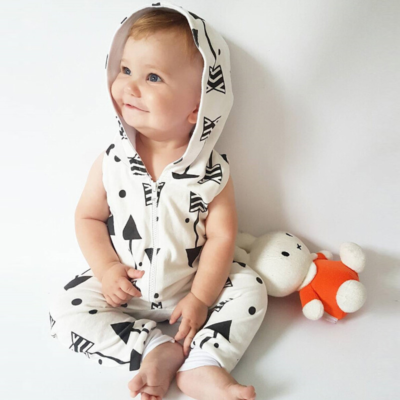 2017 Summer Style Infant Baby Girl Boy Clothes Hooded White Romper Newborn Baby Clothing Jumpsuit Outfits 2017 new adorable summer games infant newborn baby boy girl romper jumpsuit outfits clothes clothing