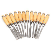 12pc Set Wood Carving Chisel Set Hand Tools Woodworking DIY Knife Professional Gouges High Quality Carbon