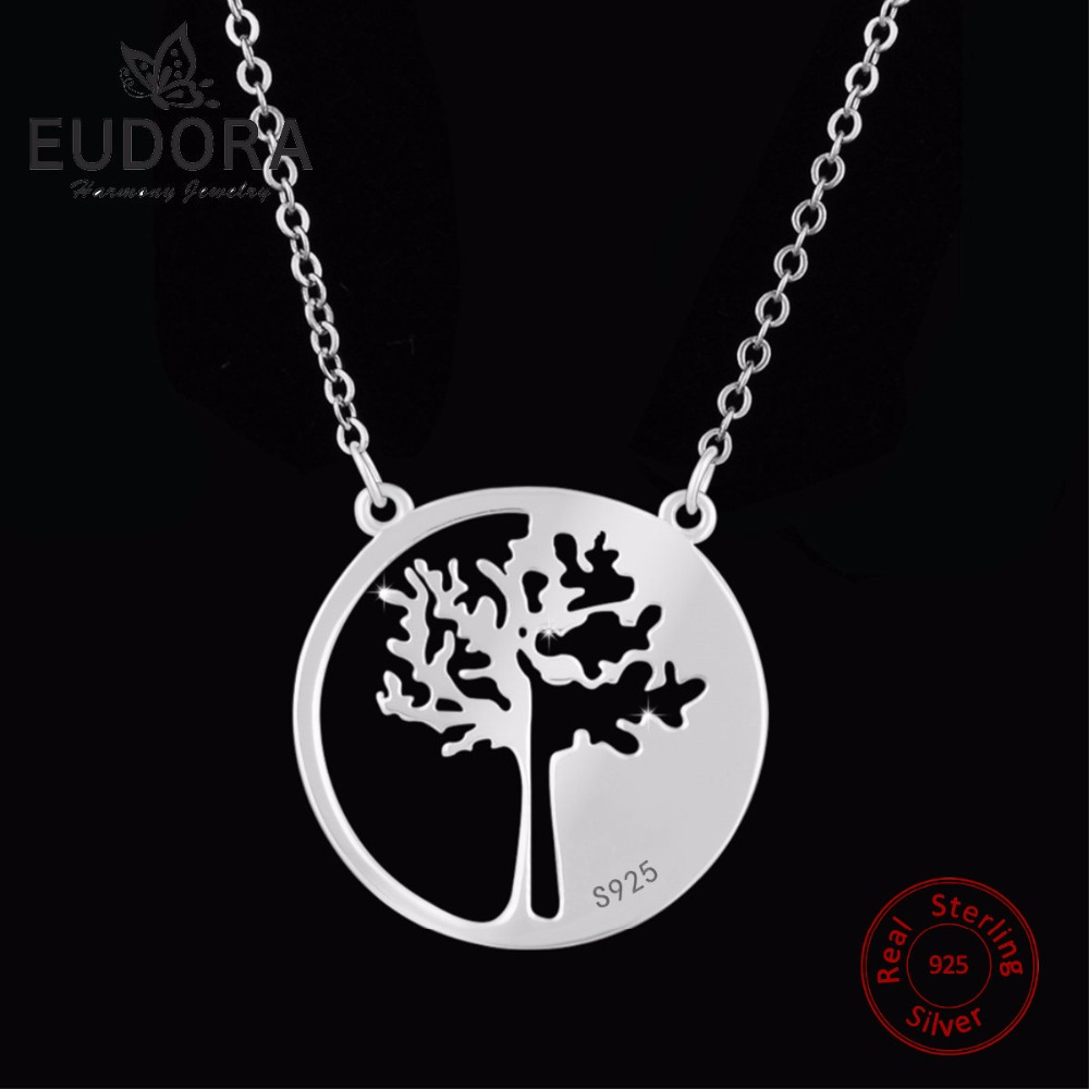 EUDORA Unique solide 925 en argent Sterling pur arbre de vie chance - Bijoux - Photo 2