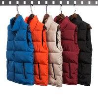 Q-IMAGE Mode Für Männer Weste Winter Männer Marke Weste Männlichen Mode Baumwolle Gefütterte Weste Jacke und Mantel Warme Weste 3XL 2X