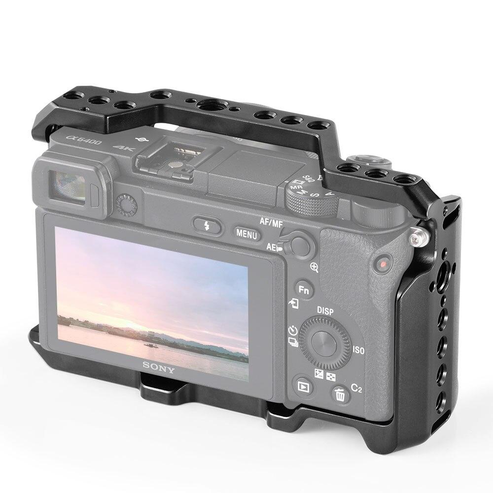 Cage de caméra SmallRig A6400 pour appareil photo Sony Alpha A6400 avec 1/4 3/8 trous de filetage pour Vlog bricolage Option 2310 - 2