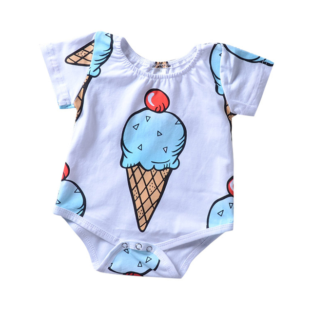 1cc04ac8d Summer Newborn Onesie Twins Baby Clothes Daddys Girl Rompers Tiny Cottons  2018 Ice Body Suit Onesie Baby Romper Girls Outfits 2Y