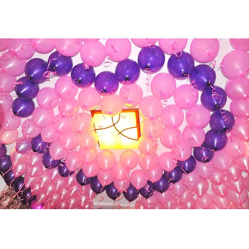 100 PCS Coloridos Balões De Aniversário Balão de Festa Balão de Látex Natural Pérola Decoração Balões da Festa de Casamento de Cor Aleatória