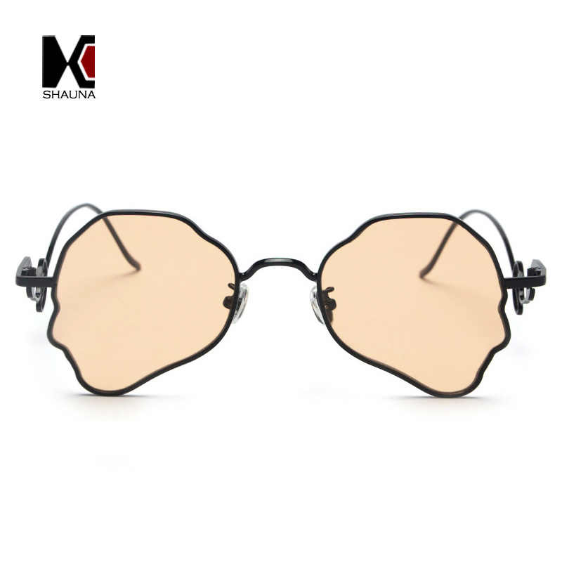 5f388966a6 ... SHAUNA Vintage Steampunk Sunglasses Men Unique Head Shape Metal Frame  Butterfly Shades Women Tea Champagne Sun ...