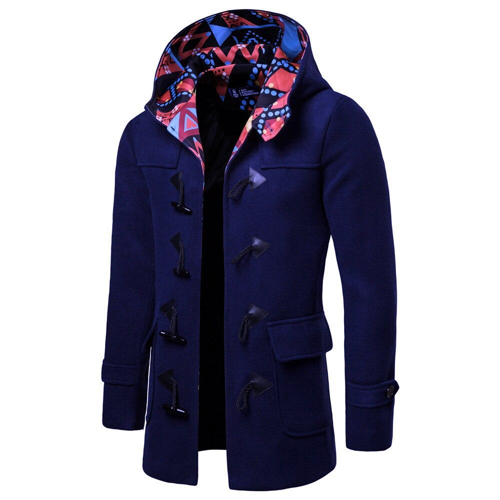 aedc25552f Cappotto Streetwear Impermeabili Fibbia Trench Il Uomini Navy Smart ...