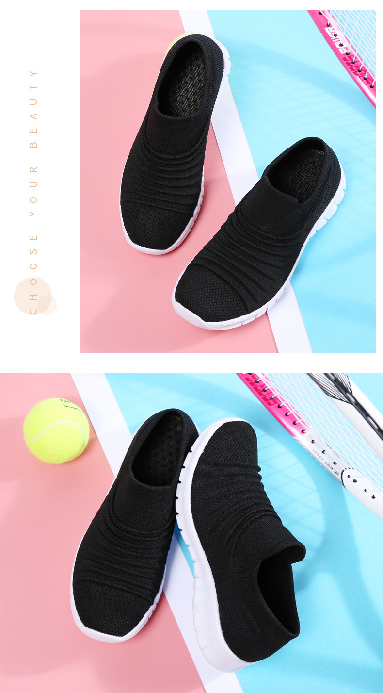 Womens Slip-on Loafer Double Coconut Palm Trees and Pink Flamingo Casual Sneaker Flat Walking Shoes Canvas