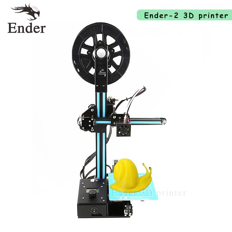 2018 Ender-2 3D printer DIY Kit Desktop Reprap prusa i3 Mini 3d printer A6 A8 with Filaments +8G SD card +Hotbed as a gift 2017 hot anet a3 full assembled desktop 3d printer precision reprap prusa i3 3d printer with 1roll filaments 16g sd card tool