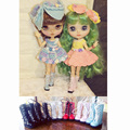 1 Pair 1/6 Scale Mid-calf Martin Boots Doll Shoes for Blyth Pullip Azone Barbies Monster Doll Accessories