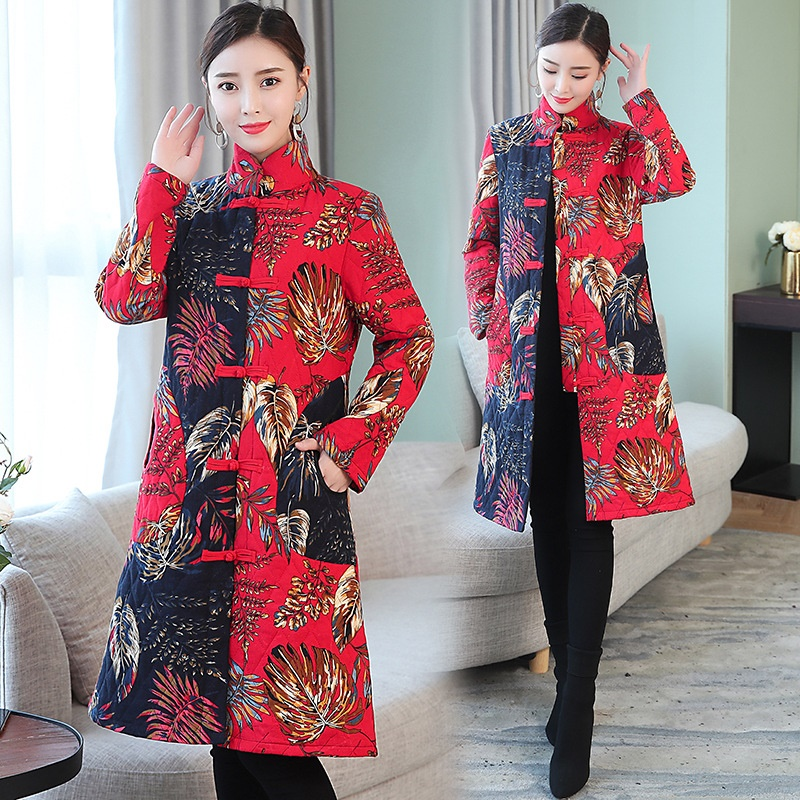 2018 Chinois Aa4255 Manteaux Hiver Cheongsam Parka Parkas D'hiver Outwear Tendances Manteau Femmes 1 TPIwSPqr