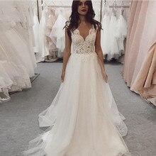 Sexy col en V princesse robes de mariée 2020 dentelle Cap manches robe de mariée sur mesure robes de mariée grande taille