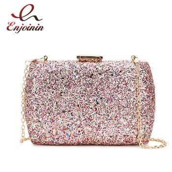 Luxury Sequins Fashion Party Wedding Clutch Bag Evening Bag Ladies Mini Messenger Bag For Women Flap Shoulder Bag Handbag Purse цена 2017