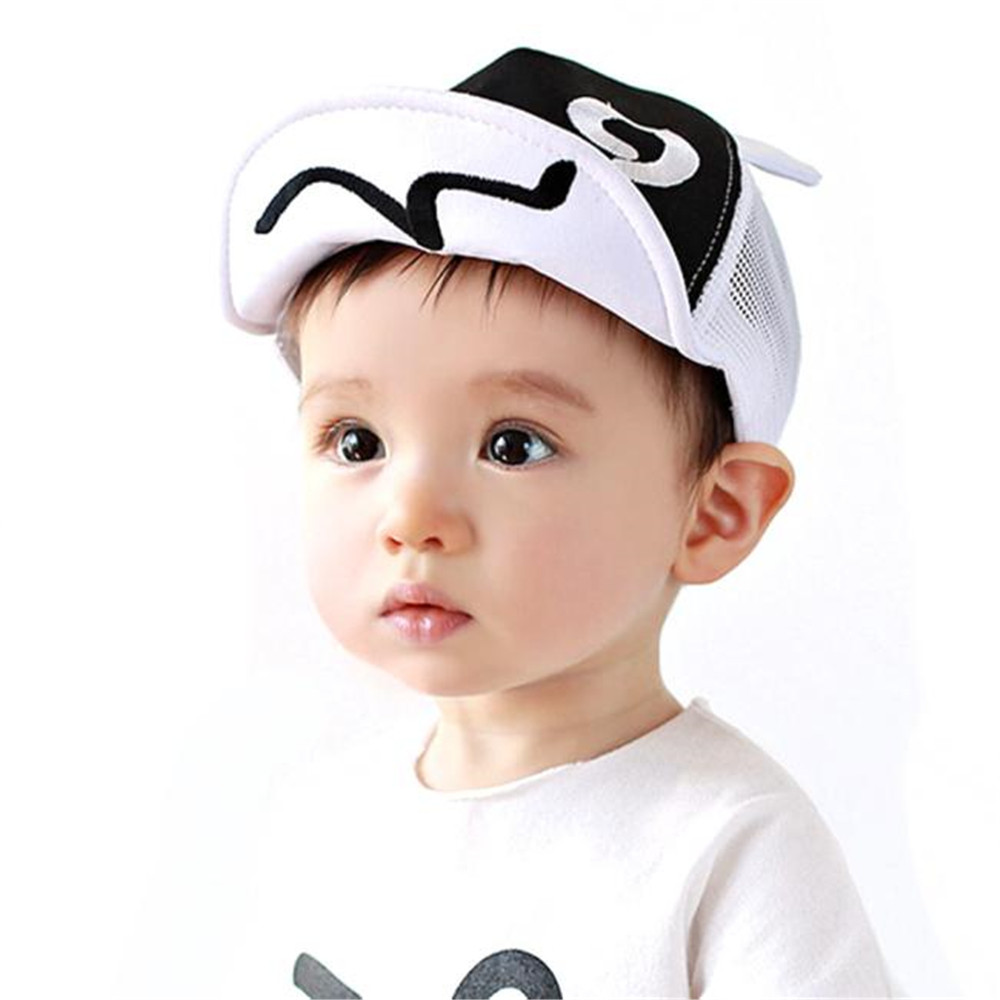 Domybest Baby Sun Hat Cotton Figures Letters Printed 0-3 Years Old Baseball Caps