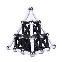 DIY World Kids Magnetic Designer Classic Metal Balls Magnet Bars Constructor Toys Adult Models Building Kit