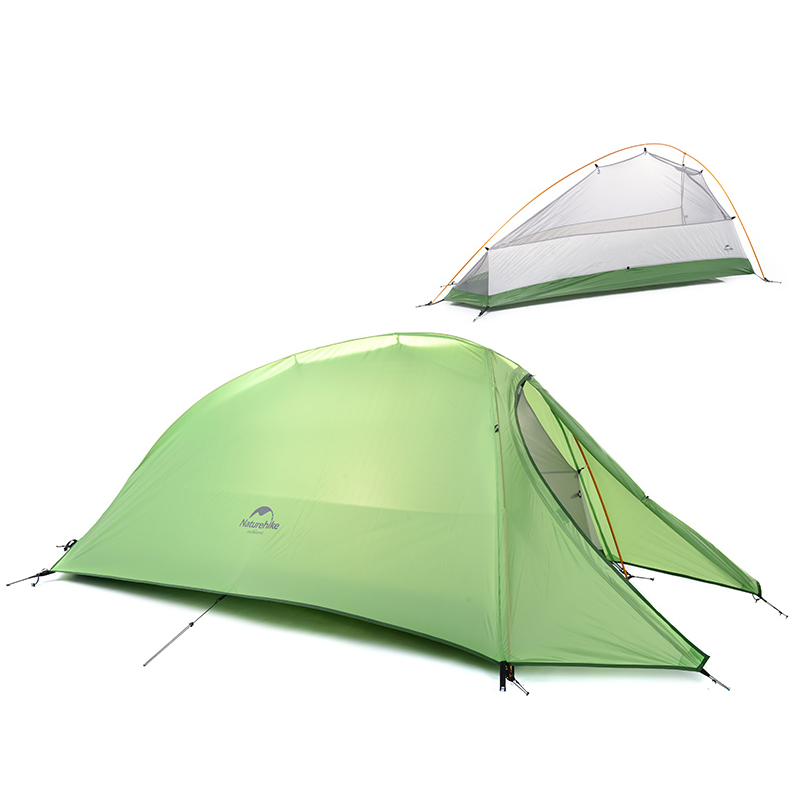 NatureHike 1 Person Tent Double layer Tent Waterproof Dome Tents C&ing 4 seasons Tents NH15T001 T With 1 Person Floor Mat-in Tents from Sports ...  sc 1 st  AliExpress.com & NatureHike 1 Person Tent Double layer Tent Waterproof Dome Tents ...