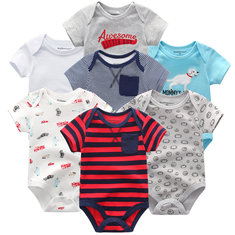 HTB1w5GhaJzvK1RkSnfoq6zMwVXaH Top Quality 7PCS/LOT Baby Boys Girls Clothes 2019 Fashion Roupas de bebe Clothing Newborn rompers Overall baby girl jumpsuit