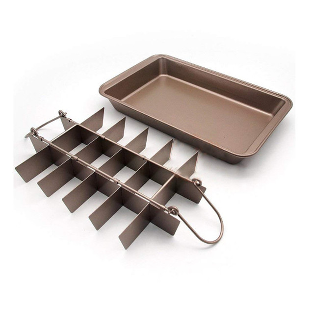 Brownie Slice Pan With Removable Dividers