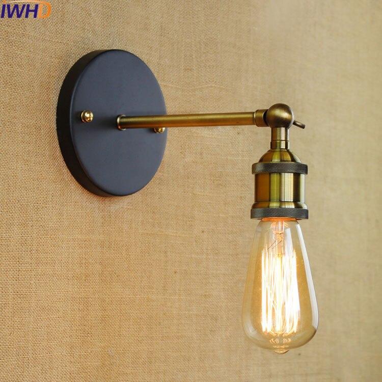 IWHD винтажный настенный светильник Ретро настенный светильник для дома промышленное настенное бра современный светодиодный светильник 220В