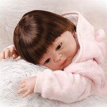НПК 22 «полный Силиконовые Bonecas Bebe Reborn Lifelike Новорожденный Ребенок Кукла Лучший Рождественский Подарок для Малыша Детский Девочка Brinquedos