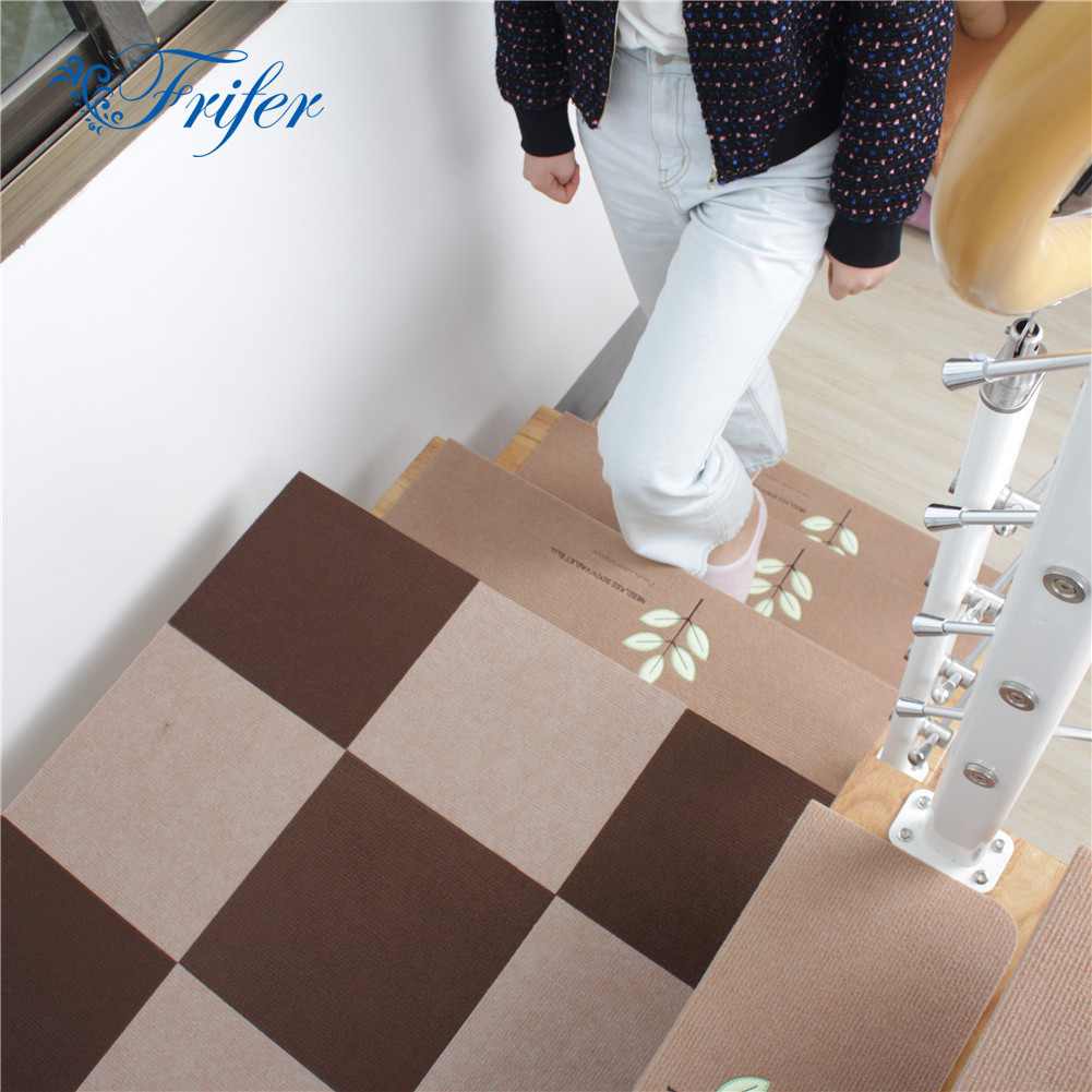 5Pcs Luminous Self-adhesive Non-slip Floor Staircase Carpets Cartoon Pattern Glow In Dark Stair Treads Protector Mats