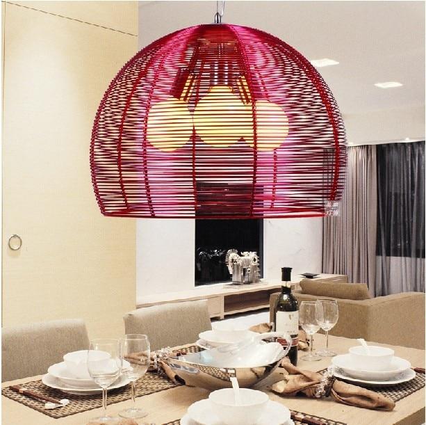 modern minimalist three creative bar restaurant pendant light bedroom living room den aluminum wire pendant lamp FG640 цена и фото