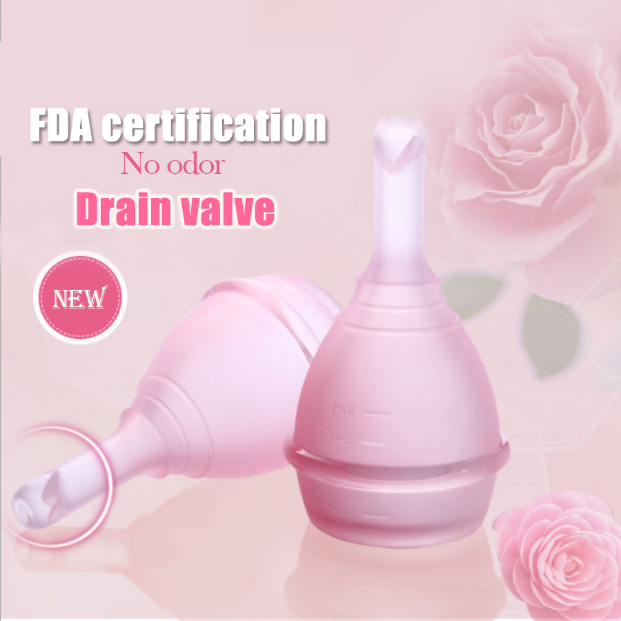 Valve Menstrual cup medical silicone period cup Anti-side leakage alternative tampon sanitary pads feminine hygiene products