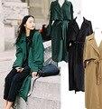 2016 уличная мода с рыхлой и женщины ветровка пальто