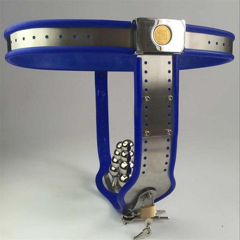 Female Chastity Belt Panty With Anal Vagina Plug Bdsm -1937