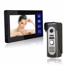 "Hot & New 7"" TFT Color Video door phone Intercom Doorbell System Kit IR Camera doorphone monitor Speakerphone intercom"