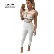 54bf21ef30c rompers womens jumpsuit solid white high waisted long overalls for women  playsuits
