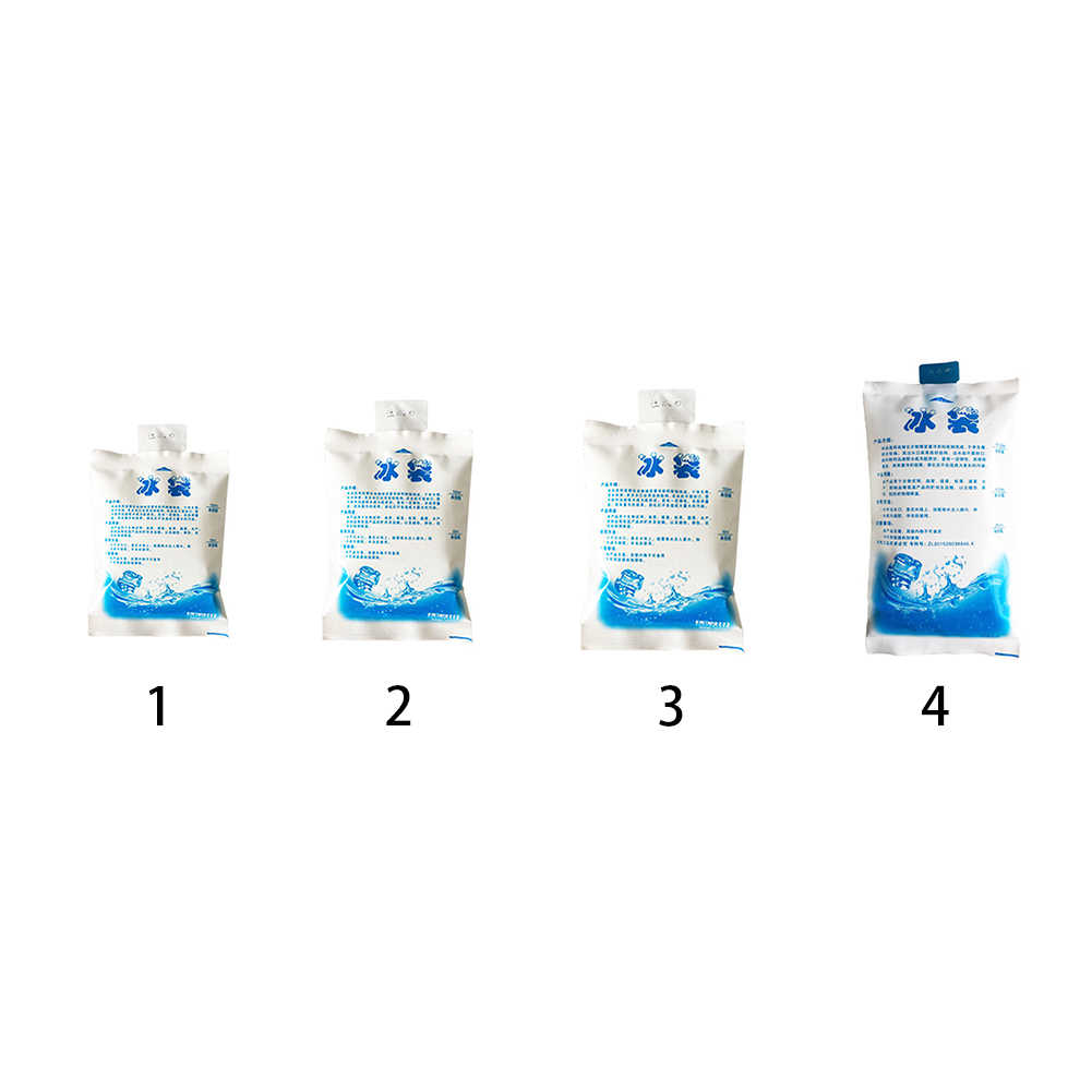 1 Pc PE Sacos de Gelo Isolados Barato Seco Reutilizável Frio Gel Bloco de Gelo Mais Frio Saco de Gelo Para A Caixa De Comida do Almoço latas de Vinho Médica